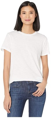 Vince Short Sleeve Swing Tee (Optic White) Women's T Shirt