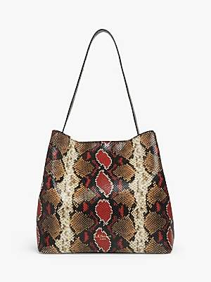LK Bennett L.K.Bennett Helena Leather Tote Bag, Multi Snake
