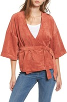 Tularosa Women's Rory Faux Suede Wrap Top