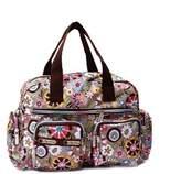 SODIAL(R) Women casual fashion print waterproof nylon bag shoulder messenger bag handbags women's size 31 * 22 * 11.5 cm Style 6