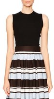 Dolce & Gabbana Thin-Ribbed Sleeveless Shell, Black