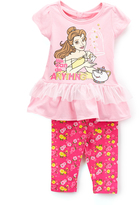 Children's Apparel Network Pink Disney Princess Belle Top & Leggings - Toddler