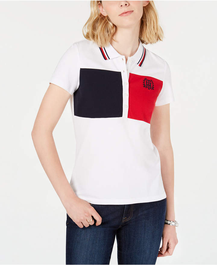 4b4b216f Tommy Hilfiger White Women's Polos - ShopStyle