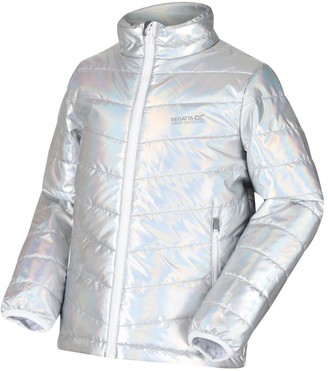 Regatta Girls Junior Freezeway Ii Holographic Insulated Padded Jacket
