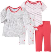Bon Bebe Animal & Polka Dots 4 Piece Set (Baby)-Multicolor-3-6 Months