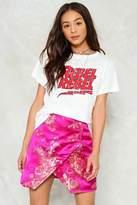 Nasty Gal On the Grow Satin Mini Skirt
