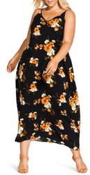 City Chic Aruba Flora Print Maxi Dress