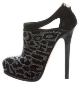 Fendi Embellished Platform Booties