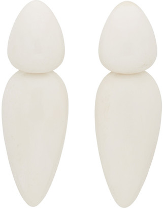Monies Jewellery White Sao Paolo Earrings