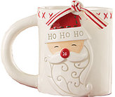 Mud Pie Holiday Deck the Hall Santa Mug
