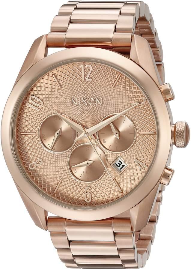 Nixon Women's A366897 Bullet Chrono Analog Display Japanese Quartz Gold Watch