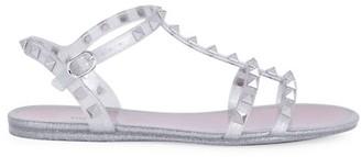 Valentino Rockstud Glitter PVC Sandals