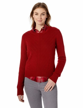 Pendleton Women's Cropped Textured Crew Neck Sweater