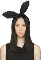 Maison Michel Black Heidi Rabbit Headband