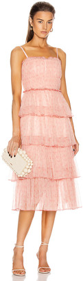 Jonathan Simkhai Harlyn Floral Dress in Rose | FWRD