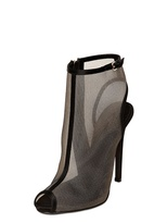 Giambattista Valli 110mm Suede And Net Open Toe Boots