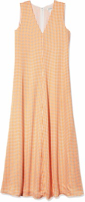 Club Monaco Women's Soft Swing Dress Orange 10