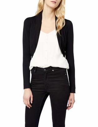 Morgan Women's 141-MOLU.M Plain Jacket Long Sleeve Jacket Black (Negro) 8 (Manufacturer Size: 36)