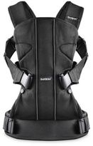 BABYBJÖRN Baby Carrier One with Bib in Black Mesh