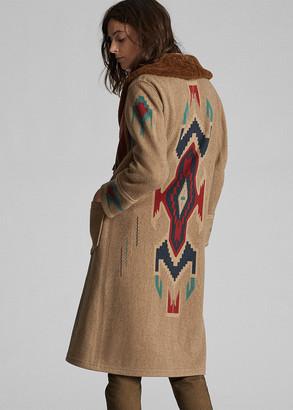 Ralph Lauren Shearling-Collar Coat