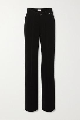 Balenciaga Stretch-crepe Straight-leg Pants - Black