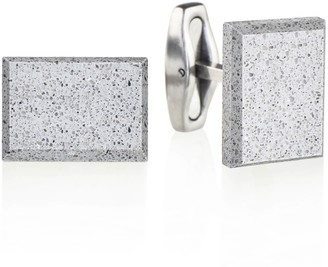 Gravelli Falcon Concrete & Surgical Steel Cufflinks Grey