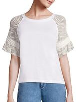 See by Chloe Lace Sleeve Tee