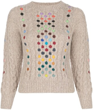 Rosie Assoulin Contrasting Cable-Knit Jumper