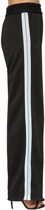 Off-White Off White Flared Leg Mesh Side Bands Track Pants