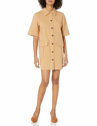 The Fifth Label Women's Collared Short Sleeve Utility Button Down Fateful Mini Shirt Dress