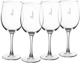 Cathy's Concepts 4-pc. Monogram Spooky White Wine Glass Set