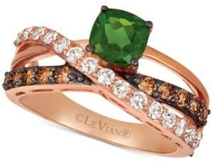 LeVian Le Vian Pistachio Diopside (3/4 ct. t.w.) & Diamond (3/4 ct. t.w.) Ring in 14k Rose gold
