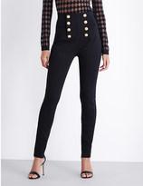 Balmain High-waisted skinny trousers