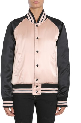 Saint Laurent Varsity teddy Satin Jacket