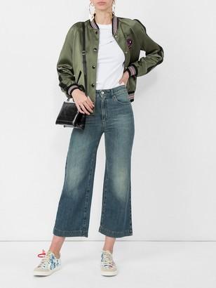 ALEXACHUNG Wide Leg Cropped Jean