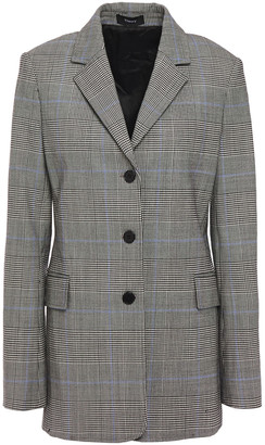 Theory Checked Wool-blend Blazer