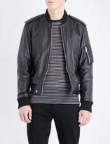 Saint Laurent Bomber-style leather jacket