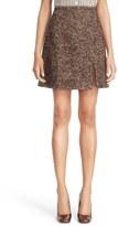 Michael Kors Wool Blend Slit A-Line Skirt