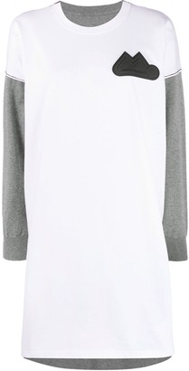 MM6 MAISON MARGIELA logo patch T-shirt dress