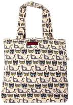 Bungalow 360 Bungalow360 Reversible Vegan Cotton Canvas Tote-Retro Cat