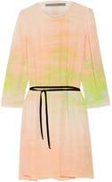Raquel Allegra Tie-dyed Silk-georgette Dress - Pastel pink