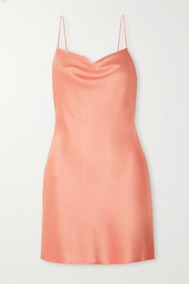 Alice + Olivia Alice Olivia - Harmony Draped Satin Slip Dress - Blush