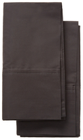 Melange Home Double Pleat Solid Cotton Pillowcases (Set of 2)