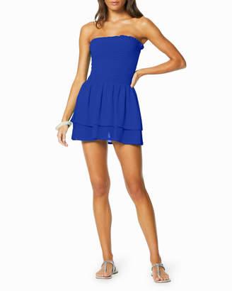 Ramy Brook Milani Smocked-Bodice Strapless Coverup Dress