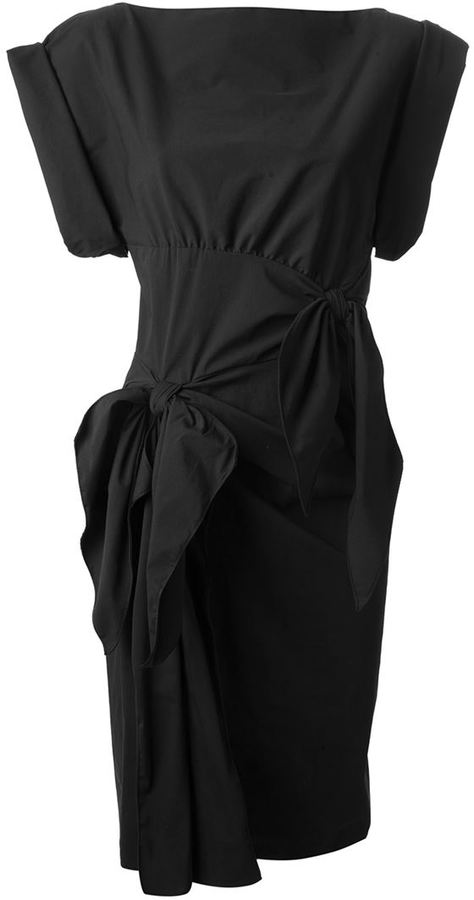 Bottega Veneta bow detailed dress