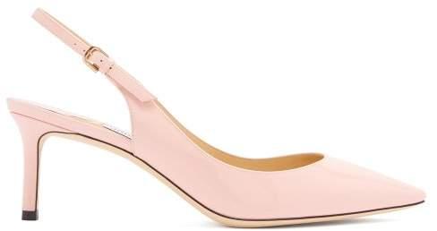 Jimmy Choo Erin 60 Slingback Patent Leather Pumps - Womens - Light Pink