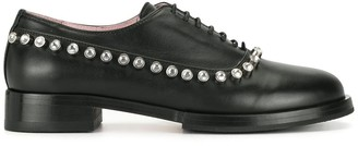 No.21 Crystal Detailed Lace-Up Shoes