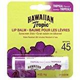 Hawaiian Tropic Tropical Sunscreen Lip Balm, SPF 45+ 0.14 oz