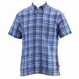 Nautica Men's Plaid Linen Blend Short Sleeve Pocket Shirt