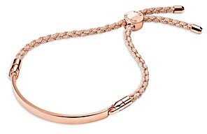 Michael Kors Custom Kors Sterling Silver Cord Bracelet in 14K Gold-Plated Sterling Silver, 14K Rose Gold-Plated Sterling Silver or Solid Sterling Silver